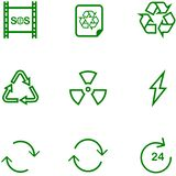 Установленный значок повторно использует, установки для различного дизайна бесплатная иллюстрация
