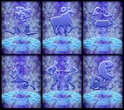 установленный зодиак знака 01 Стоковые Изображения RF