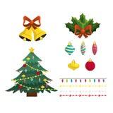 Установленный с Рождеством Христовым дизайн украшения Стоковые Фото