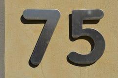 75 установленных номеров нержавеющей стали Стоковые Изображения RF