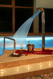 установьте заплывание бассеина романтичное Стоковое Изображение RF