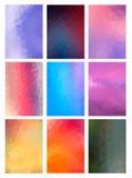 Установленная абстрактная современная предпосылка Poligonal Стоковая Фотография
