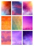 Установленная абстрактная современная предпосылка Poligonal Стоковое Фото