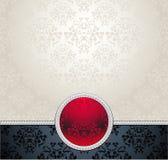 Установленная безшовная картина в викторианец с Re цветков Стоковые Изображения RF