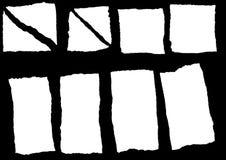 установленная бумага сорванной Стоковое Изображение