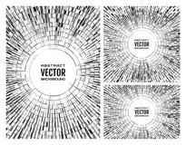 Установленная геометрическая monochrome серая иллюстрация радиальных случайных абстрактных форм Предпосылка шарика диско бесплатная иллюстрация