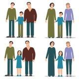 Установленная гомосексуальная семья Стоковое Изображение RF