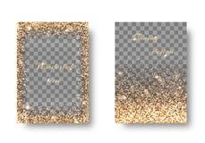 Установленная золотая прозрачная предпосылка Стоковая Фотография