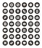 установленная иконами сеть вектора Стоковые Изображения