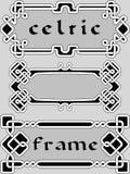 Установленная кельтская рамка Стоковое фото RF