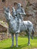 Установленная скульптура стали рыцаря Стоковое Изображение RF