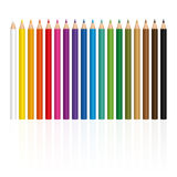 Установленное Crayons положение стойки Стоковое фото RF