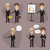 Установленные бизнесмены вектора Стоковое Фото