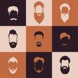 Установленные бороды иллюстрация вектора