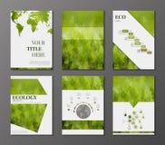 Установленные брошюры Eco иллюстрация штока