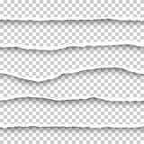 Установленные бумаги вектора безшовные сорванные Стоковая Фотография