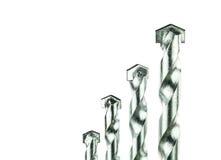 Установленные буровые наконечники Masonry стоковая фотография rf