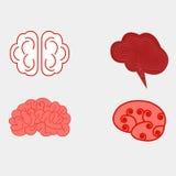 Установленные взгляды человеческого мозга бесплатная иллюстрация