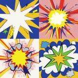 Установленные влияния шаржа Grunge шуточные иллюстрация штока