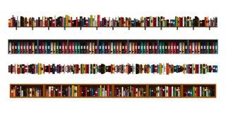 Установленные границы книжных полок Стоковая Фотография RF