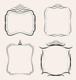 Установленные границы рамок иллюстрация штока
