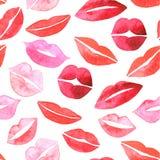 установленные губы Плоские значки Стоковая Фотография RF