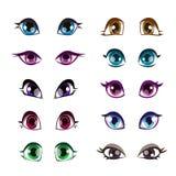 Установленные глаза девушек шаржа бесплатная иллюстрация