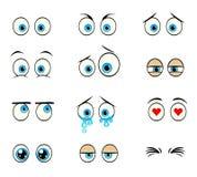 Установленные глаза шаржа Стоковые Изображения