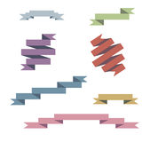 Установленные ленты вектора голубые бесплатная иллюстрация