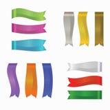 Установленные ленты, иллюстрация сети Silk вектора, выдвиженческие продукты Стоковое Изображение