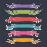 Установленные ленты шаржа Стоковые Фото