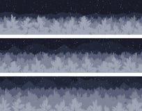 Установленные лес и горы Стоковые Изображения RF