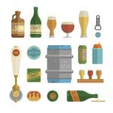 Установленные детали пива ремесла Стоковое фото RF