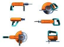Установленные електричюеские инструменты стоковое изображение