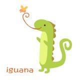 Установленные животные - игуана Стоковое Фото