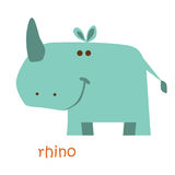 Установленные животные - носорог Стоковое Изображение