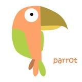 Установленные животные - попугай Стоковое Изображение RF