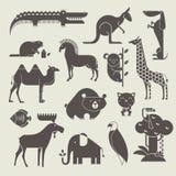 Установленные животные иллюстрация вектора