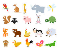 Установленные животные Стоковое Изображение