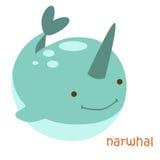 Установленные животные - narwhal Стоковые Изображения