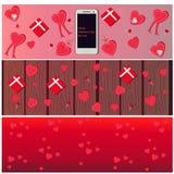 Установленные заголовки валентинки Стоковое фото RF