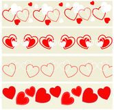 Установленные заголовки валентинки Стоковая Фотография RF
