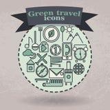 Установленные зеленые значки для перемещения Стоковые Фотографии RF