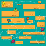Установленные знамена сеты нормального размера Знамена сети вектора Стоковое Изображение