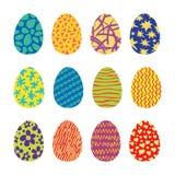 Установленные значки вектора пасхальных яя Стоковое фото RF