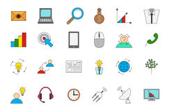 Установленные значки вектора Business&communication Стоковая Фотография RF
