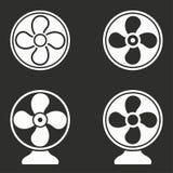Установленные значки вентилятора Стоковые Изображения