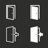 Установленные значки двери Стоковые Фотографии RF