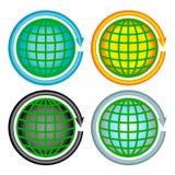 Установленные значки - держите планету Стоковое Изображение
