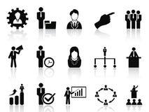 Установленные значки дела и управления Стоковые Изображения